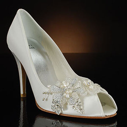 Wedding Shoes Ivory 4 In Satin
