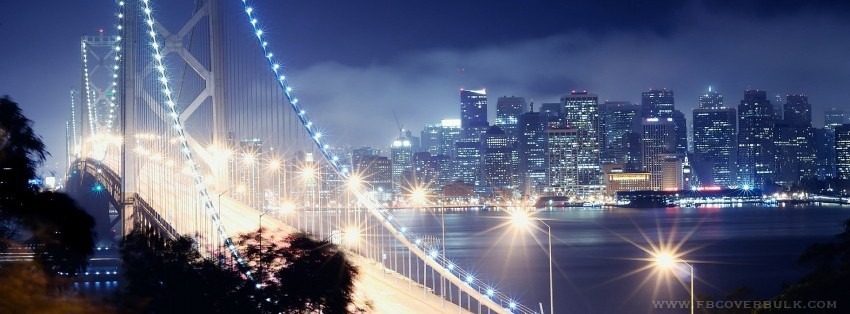 Beautiful Golden Gate Bridge Facebook Timeline Cover