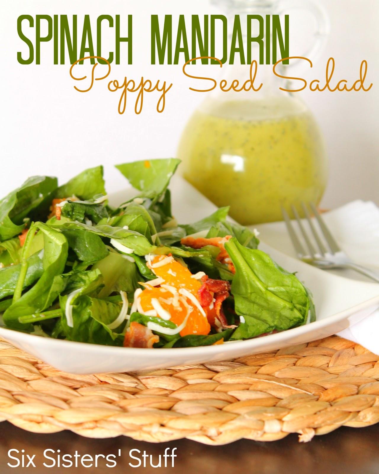 mandarin poppy seed salad recipe makes 6 8 servings ingredients salad ...