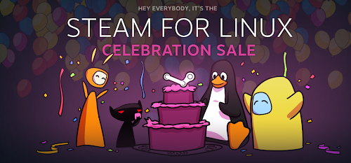 Steam for Linux Celebration Sale