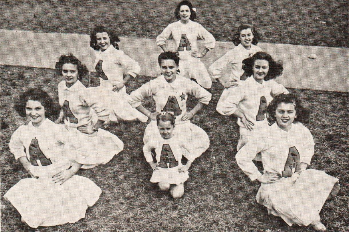 Cradock High School Cheerleaders 1945