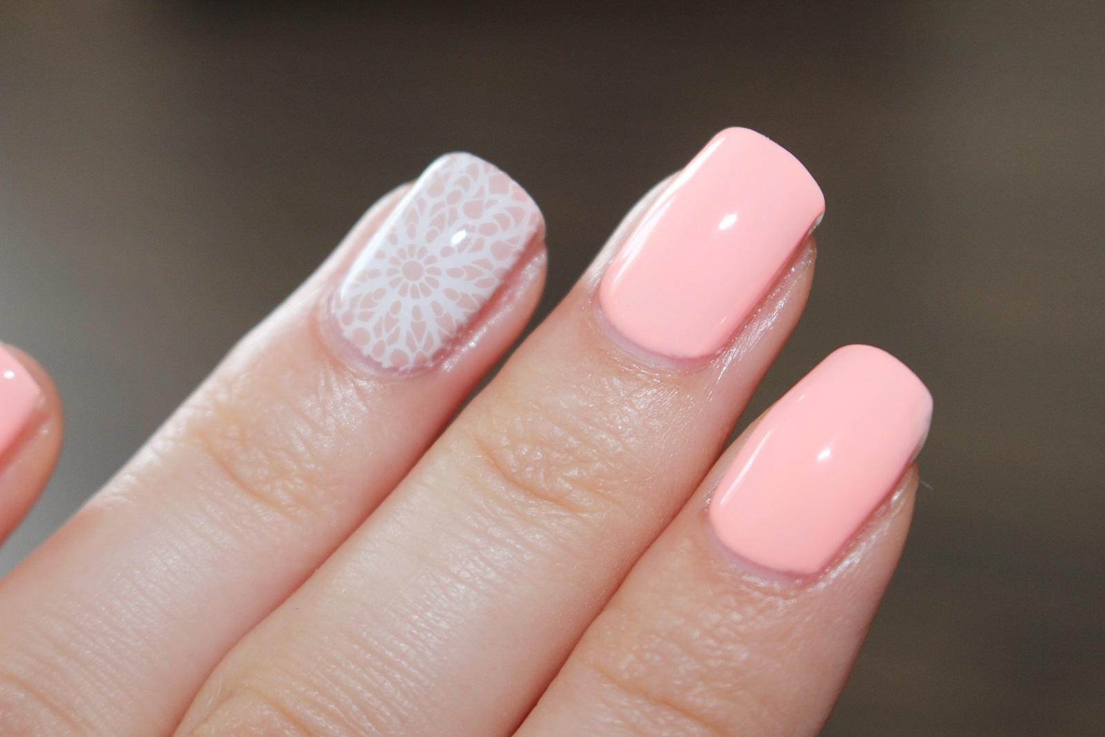 Semilac Lakier Hybrydowy 130 Sleeping Beauty stemple na lakierze hybrydowym instrukcja jak zrobić neonowe paznokcie rażące kolory paznokci hybrydy