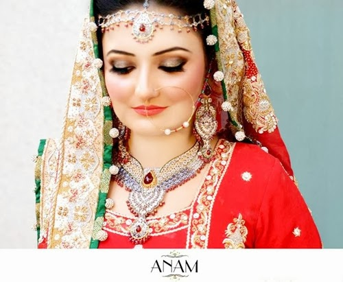 PakistaniBridalMakeupPictures2014 007 wwwshe stylesblogspotcom - Bridal Makeup Pictures 2014 by Anam.