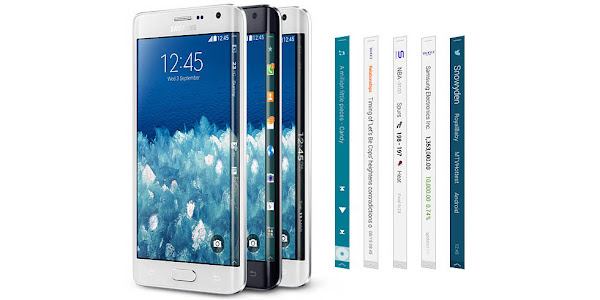 Samsung Galaxy Note Edge - Edge screen