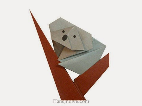 Cách gấp, xếp con gấu Koala bằng giấy origami - Video hướng dẫn xếp hình - How to make a Bear