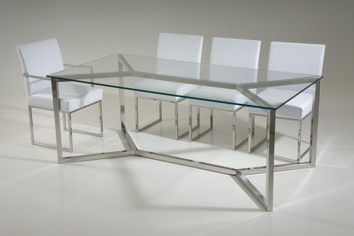 Artesanato Na Rede ~ Mesa em aço inox e vidro Design Inox