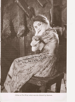 Lillian Gish RARE auto photo book page + The Wind DVD $20 FREE ship