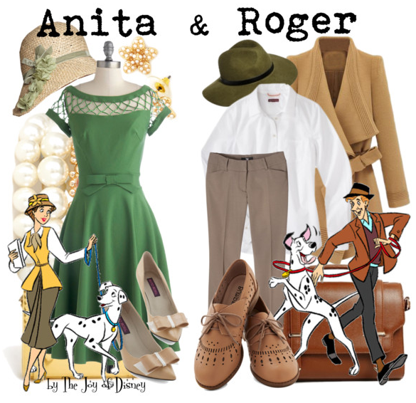 Anita and Roger 101 Dalmatians, Disney Fashion Blog