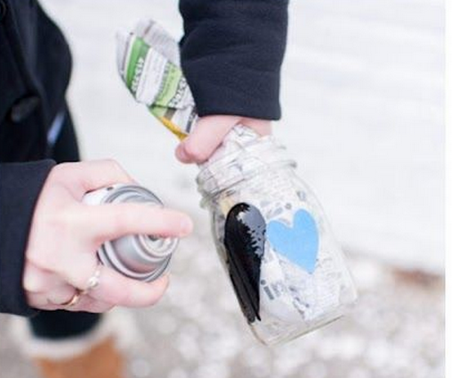 DIY: Portavelas de cristal para el día de San Valentín