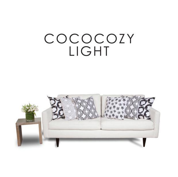 COCOCOZY Light pillows on a white sofa