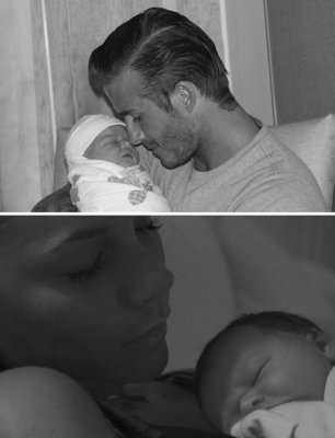 ... of David and Victoria Beckham's newly born baby girl, Harper Seven
