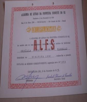 MEMBRO CORRESP. RS - 1991
