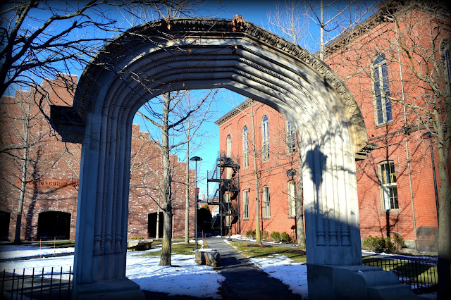 Archway, Armory Park, Salem, Massachusetts, shadow, armory, pem, peabody essex museum