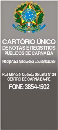 CARTÓRIO ÚNICO DE REGISTROS
