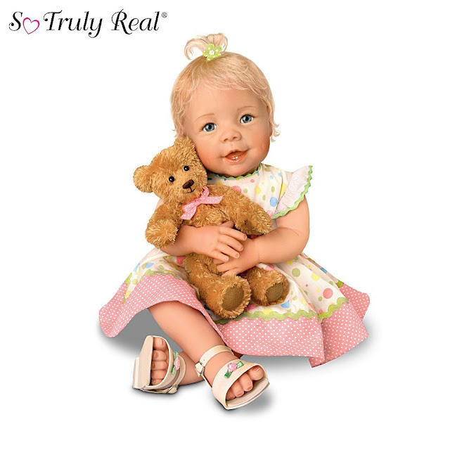 So Truly Real Lifelike Baby Doll With A Recordable Bear: Beary Sweet Messages by Ashton Drake