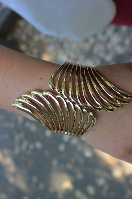 Gold Wings Cuff