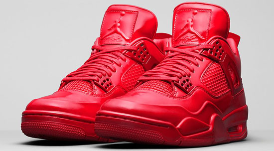 nike air jordan 11 lab 4 university red/white/bright crimson