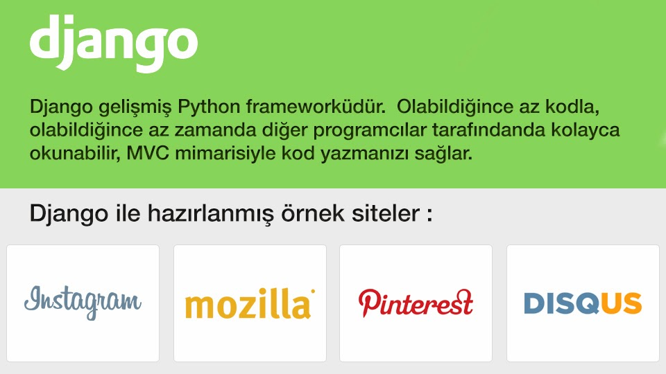 Django (Framework) Dersleri