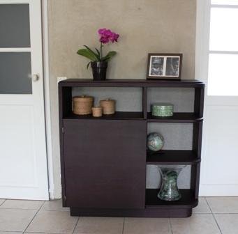 l 39 atelier de marjorie alais gainage d 39 un petit meuble art d co. Black Bedroom Furniture Sets. Home Design Ideas