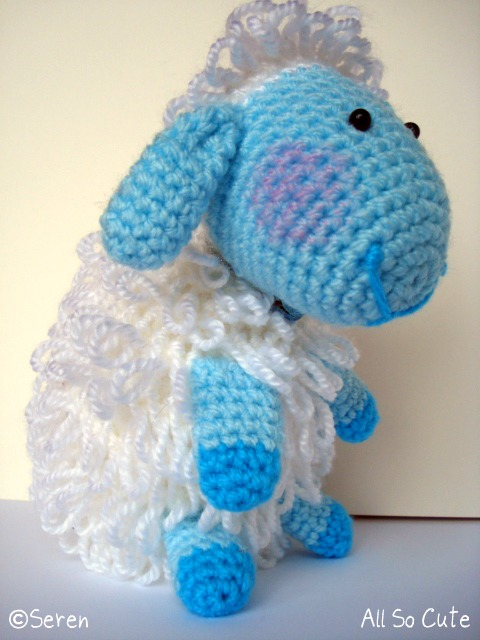 Amigurumi Loop Stitch : AllSoCute Amigurumis: Crochet Amigurumi Blue Lamb!