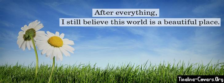 Beautifull world facebook cover