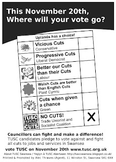 TUSC Graphic Where will your vote go