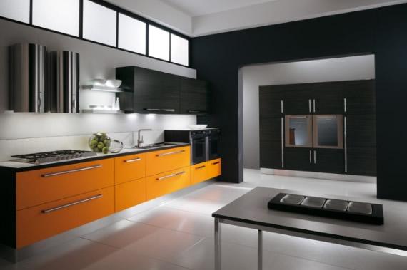Decoracion actual de moda lo ltimo en cocinas - Cocinas naranjas y blancas ...