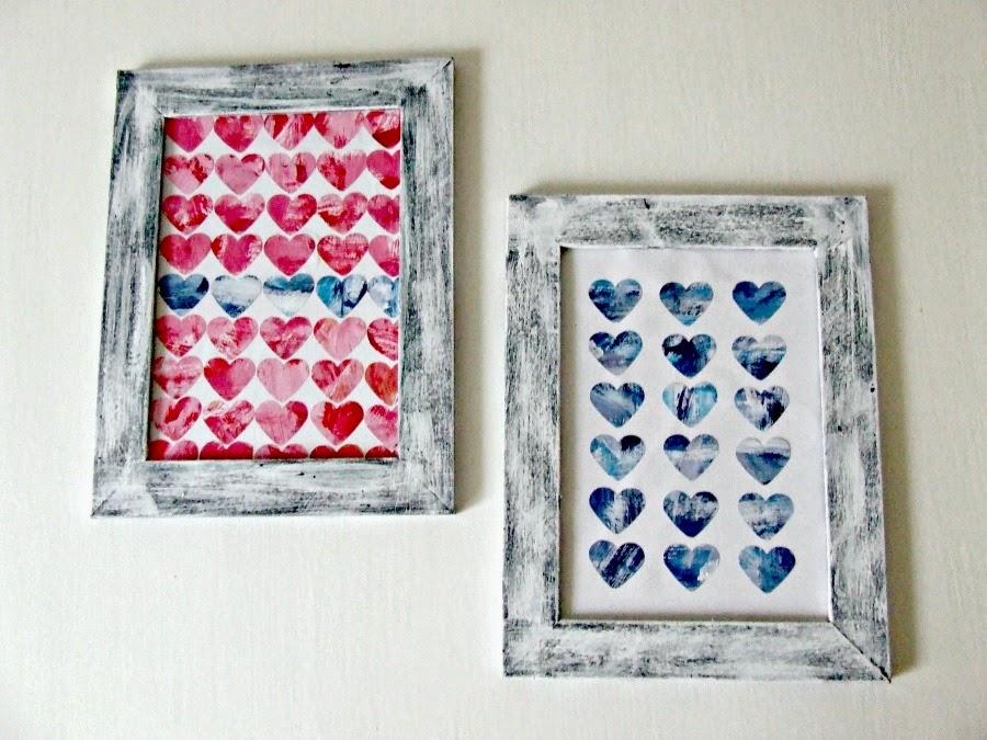 Co zrobić z ramki? Na przykład miłosną dekorację w ry=ustykalnym klimacie shabby chic.