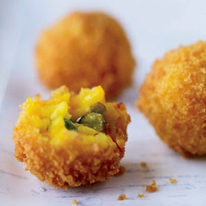 Toasted Pistachio Cheese Arancini