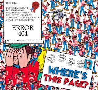 Dónde está la página? Dónde está Wally? 404
