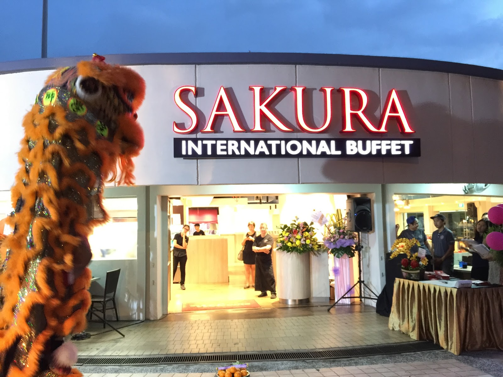Sakura International Buffet Lion Dance 2