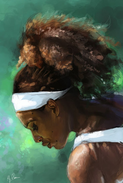 Serena Williams Art by Illeskobar