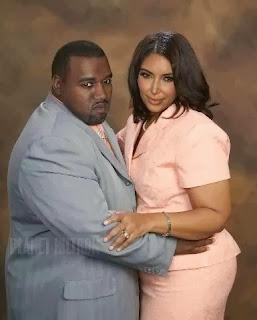 Fat Kanye West, Kim Kardashian,
