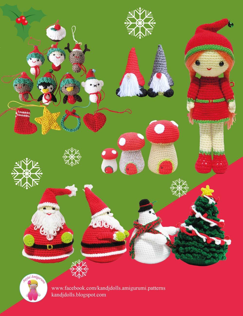 Easy Christmas Amigurumi : A new christmas amigurumi crochet patterns book sayjai