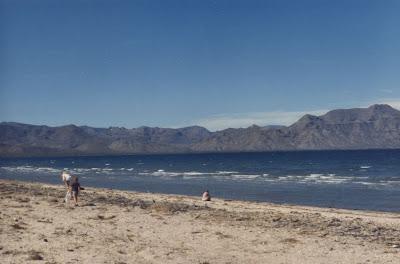 Sea of Cortez on the Baja peninsula Mexico