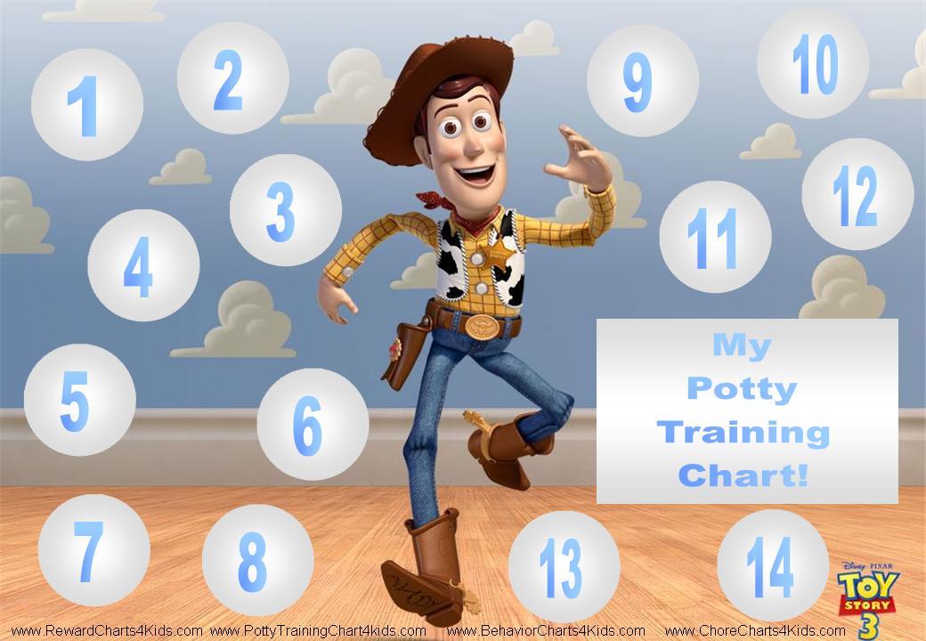 Toy Story Sticker Chart : Potty training chart