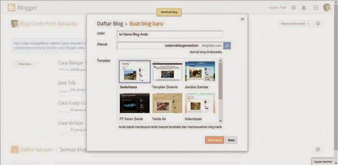 Cara Membuat Blog gambar 3