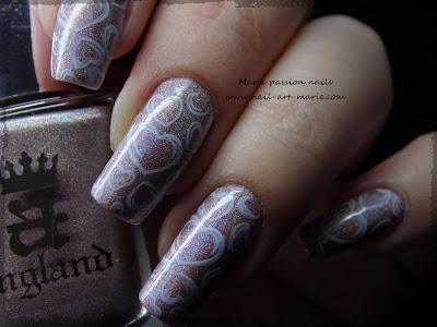 Nail art coeurs stampés4