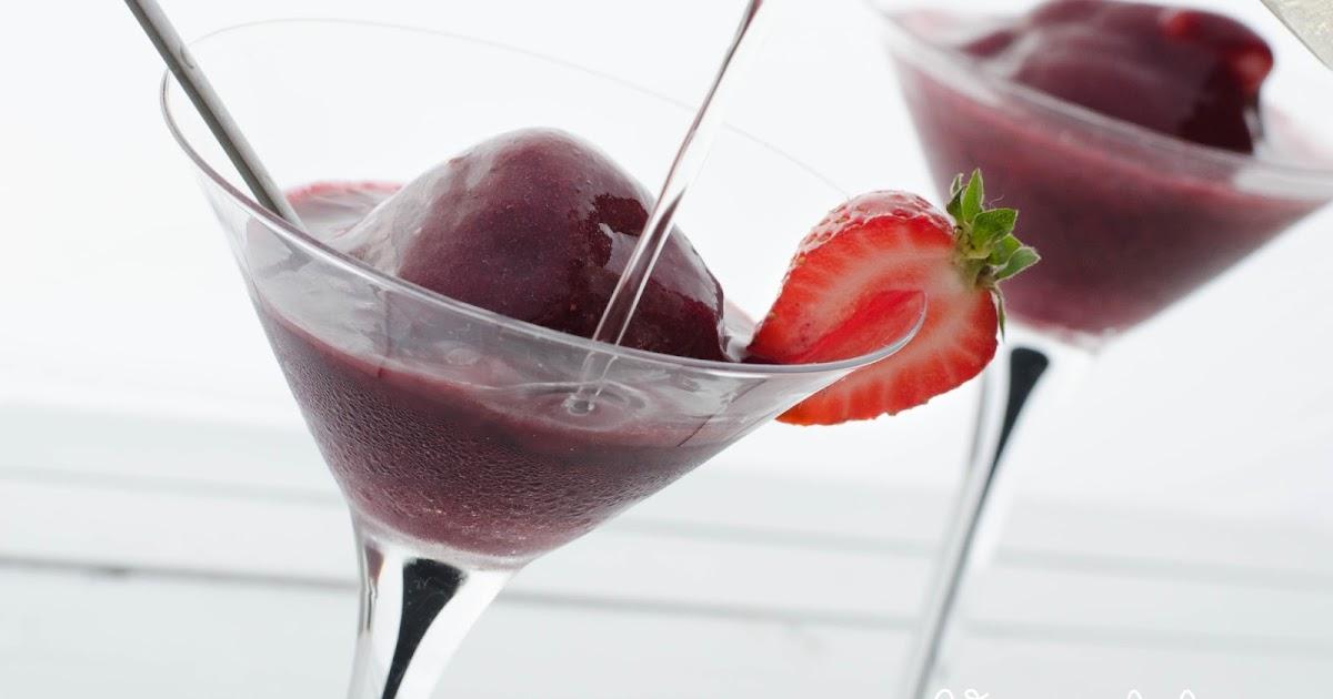 Veggieful: Vegan Instant Berry Champagne Sorbet