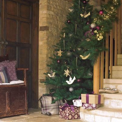 recibidor navideño