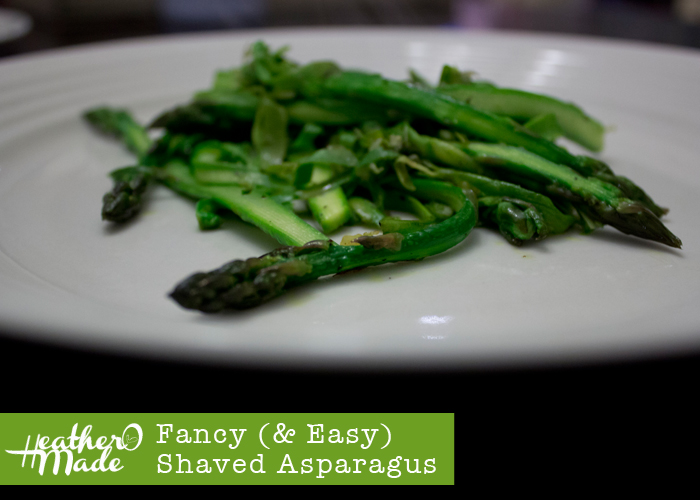 fancy and easy shaved asparagus. vegetable. side. recipe. vegan