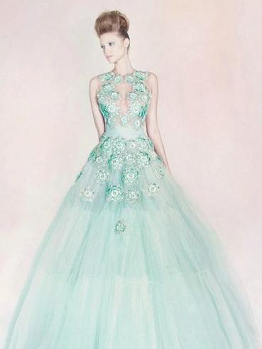 How to make yourself pretty: Ice cream color series of wedding dress