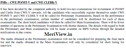IBPS New Exam Pattern for PO & Clerk Exam 2015