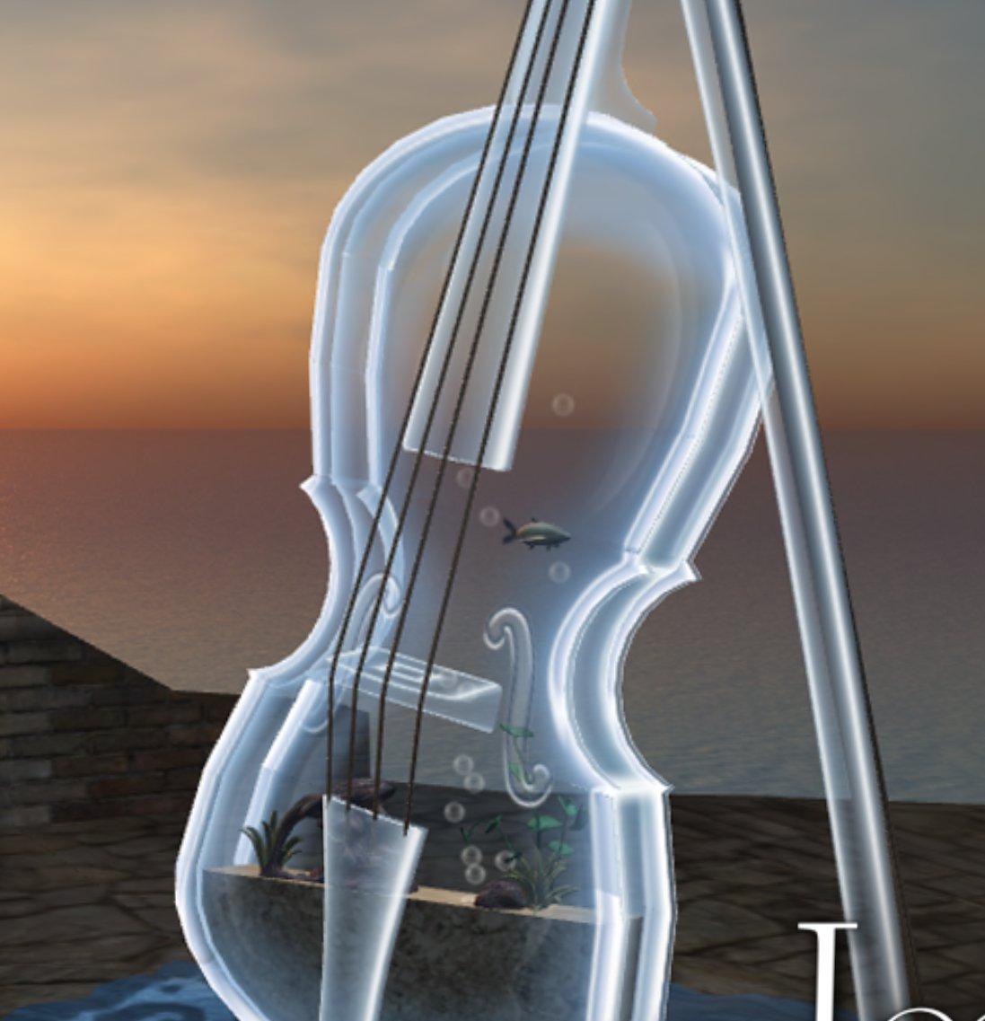 Glass Violin Wallpaper a 64 Prim Glass Violin
