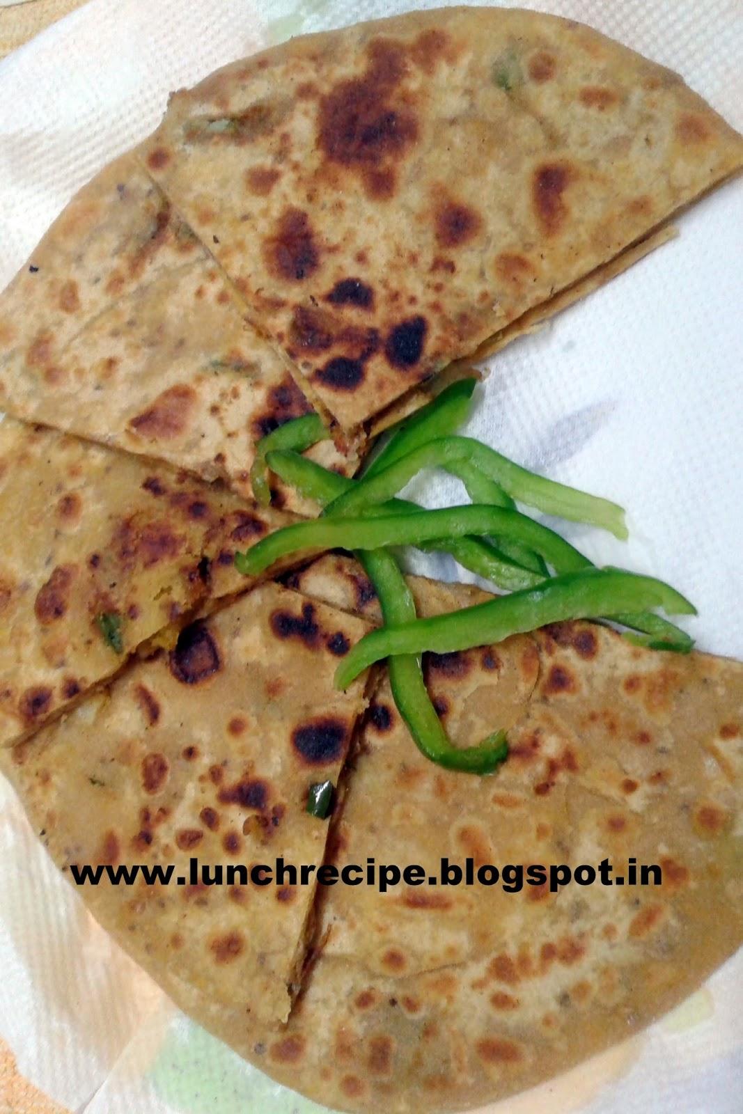 How to make Aloo and Capsicum Parantha   Aloo and Shimala mirch paratha in hindi