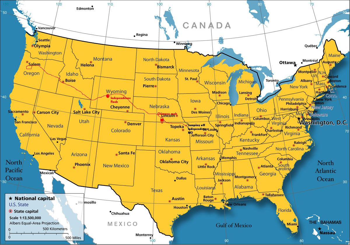 Manifest Destiny - Us map independence