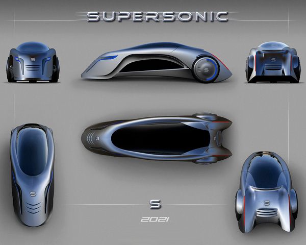 xp rimen supersonic concept car for the urban mega societies. Black Bedroom Furniture Sets. Home Design Ideas