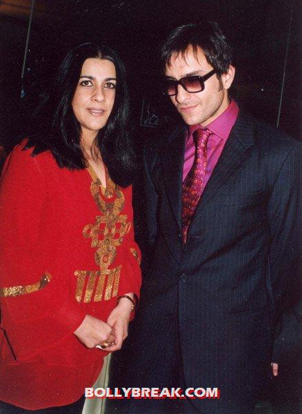 saif with ex wife amrita singh - Saif Ali Khan photos with bollywood heroines