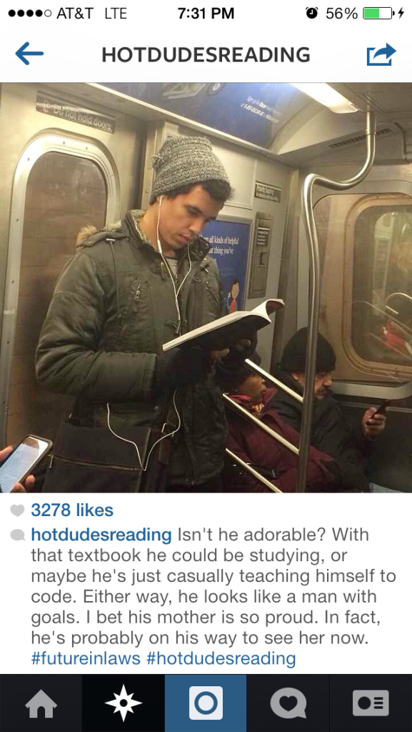 Hot Dudes Reading Instagram