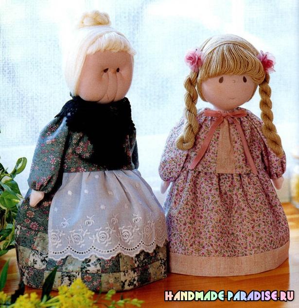 Японский журнал с выкройками текстильных кукол